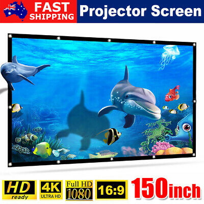 AU26.45 • Buy 150inch Projector Screen 16:9 HD Home Cinema Theater Foldable Outdoor Portable