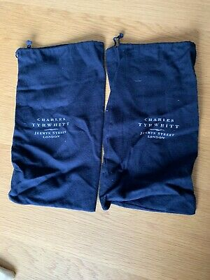 £0.99 • Buy Charles Tyrwhitt 2 Navy Boots Shoe Bags Essentials Two Bags