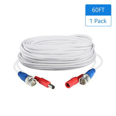 $ CDN18.94 • Buy 60FT Video  Cable BNC RCA Extension Cord Connector For Security Camera J2Y2