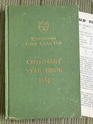 £4.99 • Buy Worcestershire County Cricket Club Centenerary Year Book 1965 With Insert