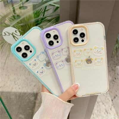 AU7.53 • Buy Simple Cartoon Bear 3 In 1 Phone Cover Case For IPhone 7/8+ 11 12 Pro XS Max XR