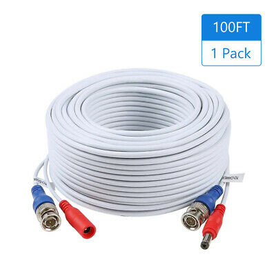 $ CDN33.47 • Buy 1Pack 100ft /30m 2-in-1 Video  CCTV Cable BNC Extend Cord For Home P4C4