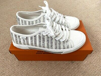 £9.99 • Buy White Glitter Rocket Dog Trainers With Box, Worn Once - Excellent, Size 6