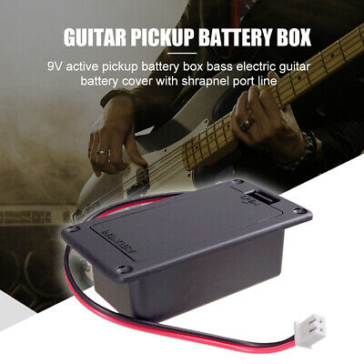 £2.95 • Buy 9V Battery Holder Case Box Cover For Guitar Active Pickup Connector Parts NEW