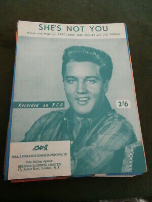 £10 • Buy Elvis Presley Sheet Music  She's Not You  For Piano.