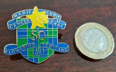 £0.01 • Buy Marie Curie Cancer Care 50 Scotland Pin Badge