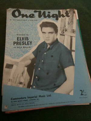 £10 • Buy Elvis Presley  One Night  For Piano - From Commodore Music 1957