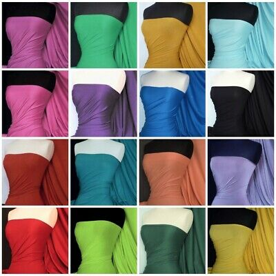 £0.99 • Buy Stretch Cotton Jersey Fabric Dressmaking Knit Plain Colour Lightweight Material