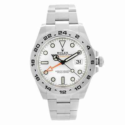 $ CDN18725.38 • Buy Rolex Explorer II GMT 42MM Stainless Steel White Dial Automatic Men Watch 216570