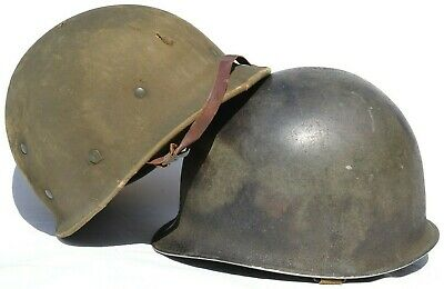 $ CDN928.91 • Buy Us Ww 2 Army M-1 Helmet Fixed Bale With Hawley Liner & Green Buckle Chinstrap