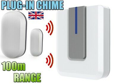 £27.25 • Buy WIRELESS SHOP VISITOR BELL Door ENTRY Magnet Contact Alert CHIME ALARM 100M