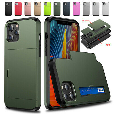 AU13.99 • Buy For IPhone 13 12 11 Pro Max Mini XS XR Shockproof Card Holder Wallet Cover Case
