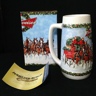 """$ CDN24.71 • Buy BUDWEISER 2009 Holiday Series Beer Stein CS699 """"A Holiday Tradition"""""""