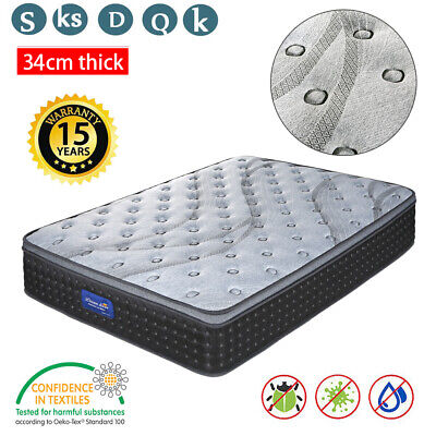 AU279.99 • Buy DREAM LOVER Mattress Queen Double King Single Bed Pocket Spring Foam Bamboo 34Cm