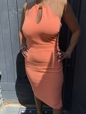 £11 • Buy River Island Coral Backless Dress Size 6