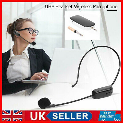 £15.99 • Buy UHF Wireless Head-Mounted Microphone MIC System Headset W/ Receiver Transmitter