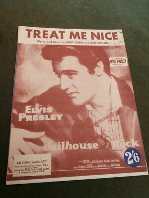 £10 • Buy Elvis Presley  Treat Me Nice  By Leiber & Stoller - Music For Piano