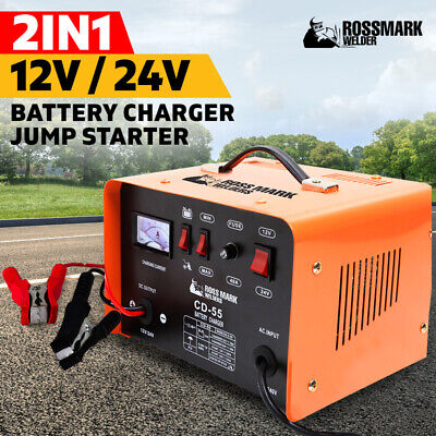 AU129 • Buy NEW ROSSMARK 2IN1 Car Battery Charger Jump Starter 12 24V 40A ATV Boat Tractor