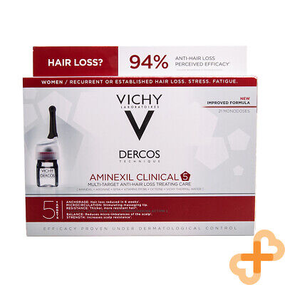 £34.99 • Buy Vichy Dercos Aminexil Clinical Hair Loss Treating Care Women Ampoules 21x6ml