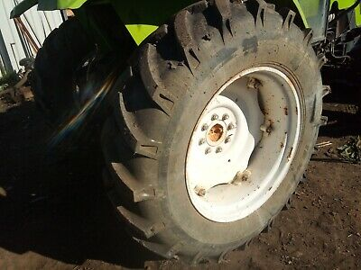 AU1100 • Buy 2 X 13.6-28 Rear Rural Farm Tractor Tyres And Rims Almost New