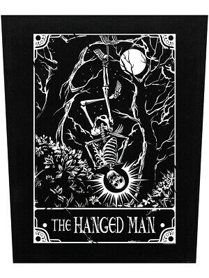 £8.25 • Buy Deadly Tarot Back Patch The Hanged Man Black 39.5x36cm