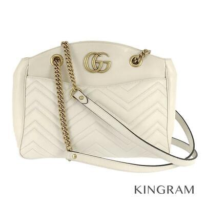 £573.22 • Buy GUCCI GG Marmont Chain One Belt Gold Hardware 443501 Cross Body Bag From Japan