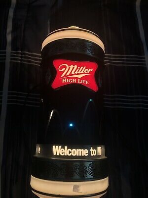$225 • Buy 1984 Miller High Life Beer Motion Bouncing Ball Rotating Light Sconce Sign 15.5