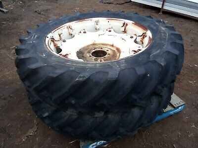 AU1100 • Buy 2 X 14.9-38 Rear Rural Farm Tractor Tyres And Rims Good Threads