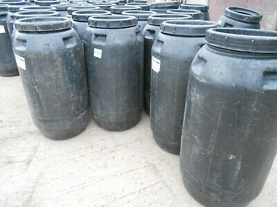 £20 • Buy 1 X 240Ltr Black Plastic Barrel, Water Butt, With Lid, Feed Bins COLLECTION ONLY