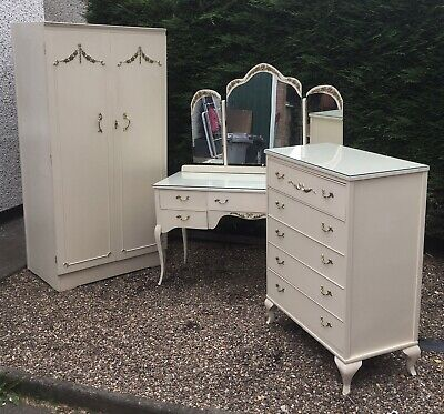 £220 • Buy French Style Bedroom Set, Fitted Wardrobe, Chest Of Drawers, Dressing Table