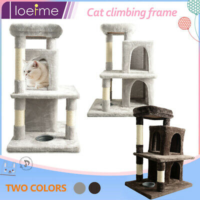 £22.88 • Buy Cat Home Play Activity Tree 2 House Perch Scratching Post Climbing Tower Kittten