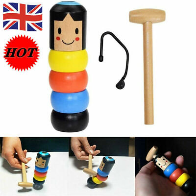 £4.99 • Buy Wooden Unbreakable Man Puppet Funny Dolls Magic Gift Toy For Children Adult ﹑UK