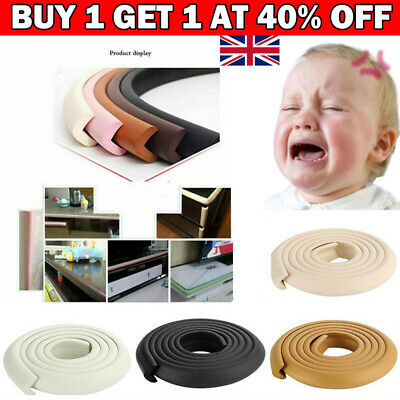 £4.99 • Buy 2m Kids Baby Safety Foam Rubber Bumper Strip Safety Table Edge Corner Protector