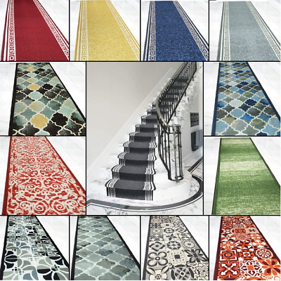 £15.95 • Buy Non Slip Rubber Backed Machine Washable Stairs Runner Hall Extra Long Mat Carpet