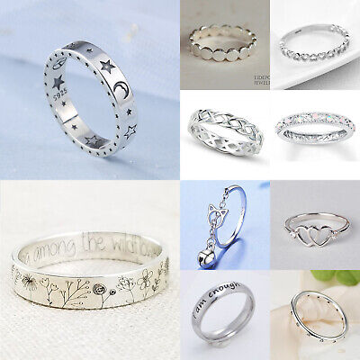 £2.35 • Buy Elegant Rings For Women 925 Silver Simplicity Jewelry Wedding Ring Gift Size6-10