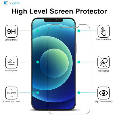 AU8.95 • Buy 2x Screen Protector Nuglas Tempered Glass For IPhone 12/12 Pro With Applicator