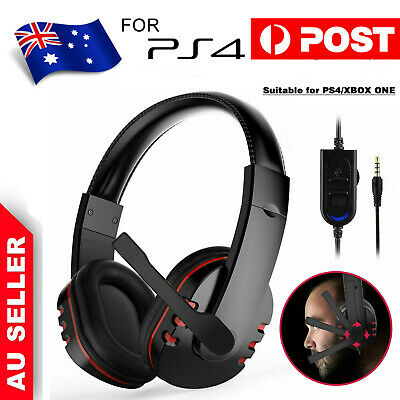 AU16.29 • Buy Durable Stereo Gaming Headset Headphone Wired With Mic For PC Xbox One PS4 Kit