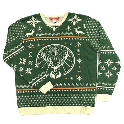 $29.95 • Buy Shinesty Mens XL Jagermeister Green Deer Ugly Christmas Sweater