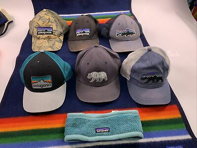 £57.53 • Buy Rare 7 Pc Patagonia Hat Lot Fish Embroidered Fly Fishing Fitz Vtg Camo Bear Cap