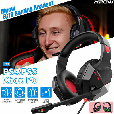 AU32.19 • Buy Mpow Gaming Headset LED Surround Headphones Microphone Fr PS5 Xbox One PC Switch