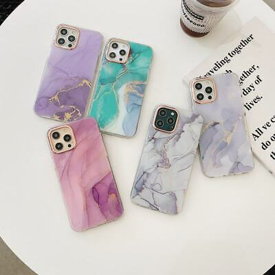 AU8.97 • Buy  Luxury Marble Soft Back Case For IPhone 7 8 11 12 Pro Max XR X Phone Cover Skin