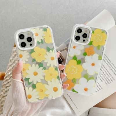 AU7.72 • Buy 3 In 1 Flower Soft Hard Clear Phone Cover Case For IPhone 7 8 11 12 Pro Max X XR