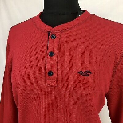 AU19.02 • Buy NWT Hollister Women's Long Sleeve Red Thermal Shirt Size L Large NEW