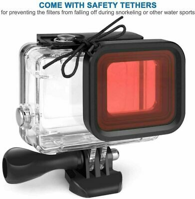 $ CDN11.09 • Buy 3Filter Kit Diving For Gopro Hero 8 Black Waterproof No Case Protect Cover