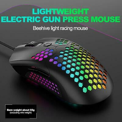 AU24.43 • Buy PC Wired Lightweight Gaming Mouse 65G RGB Backlit Programmable 7 Buttons Optical