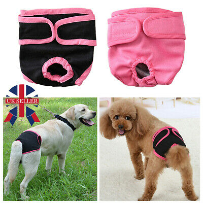 £3.58 • Buy Physiological Pants For Female Dogs Pet Cat Sanitary Nappy Diaper Underwear UK