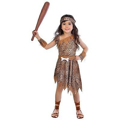 £12.75 • Buy Kids Cave Girl Costume Childs Stone Age Caveman Book Day Girls Fancy Dress