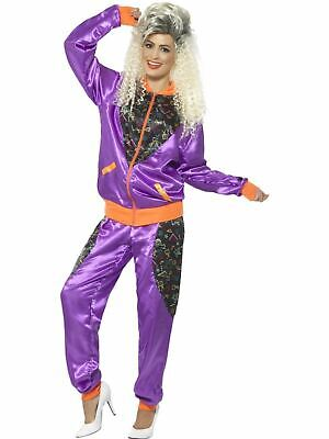 £21.52 • Buy 1980's Height Of Fashion Shell Suit Ladies Fancy Dress Party Womens Costume Retr