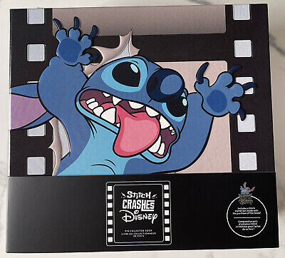 £50 • Buy Stitch Crashes Disney Pin Holder Collector Book & Limited Starter Pin NEW