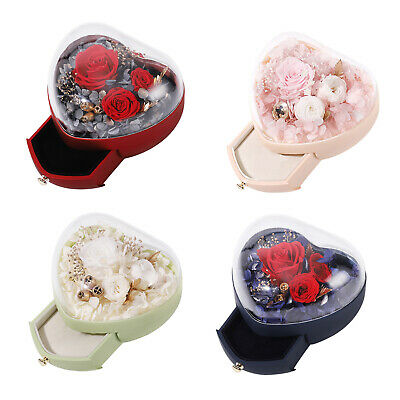 AU35.92 • Buy Preserved Rose Flower Box Personalized For Valentines Day Gifts For Her